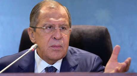 وزير الخارجية الروسي، سيرغي لافروف.