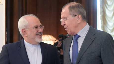 وزير الخارجية الروسي، سيرغي لافروف، ونظيره الإيراني، محمد جواد ظريف
