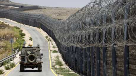 عربة عسكرية إسرائيلية في الجولان المحتل
