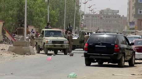 قوات تابعة للرئيس اليمني عبد ربه منصور هادي في مدينة عدن (صورة أرشيفية)