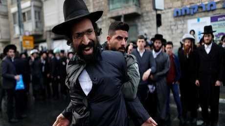 احتجاجات لمتشددين يهود على التجنيد الإلزامي