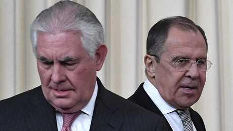 وزيرا الخارجية الروسي سيرغي لافروف والأمريكي ريكس تيلرسون (صورة أرشيفية)