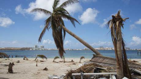 """جزيرة سان مارتان بعد إعصار """"إرما"""""""