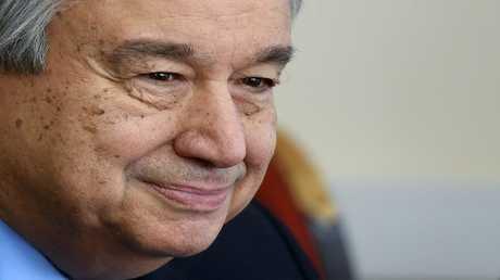 السكرتير العام للأمم المتحدة انطونيو غوتيريش