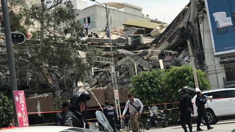 آثار الزلزال في المكسيك