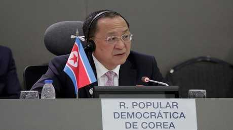 وزير الخارجية الكوري الشمالي ري يونغ هو