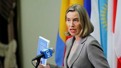 مفوضة الاتحاد الأوروبي لشؤون الأمن والسياسة الخارجية فيديريكا موغيريني