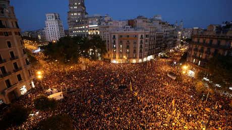 مظاهرة في برشلونة
