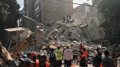 تبعات الزلزال في المكسيك