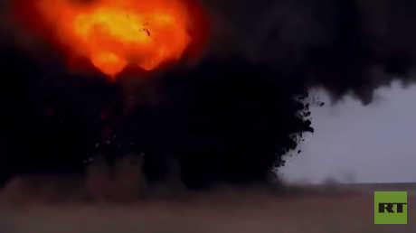 شاهد كيف يسقط والقدرة التدميرية لصاروخ اسكندر الروسي
