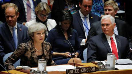 تيريزا ماي تشارك في جلسة مجلس الأمن الدولي الخاصة بليبيا