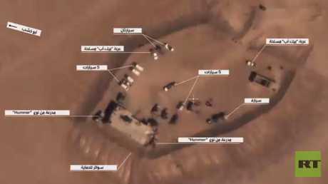 آليات أمريكية في مواقع داعش بدير الزور