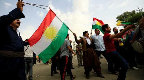 أكراد في كركوك يحتفلون بإجراء استفتاء كردستان العراق