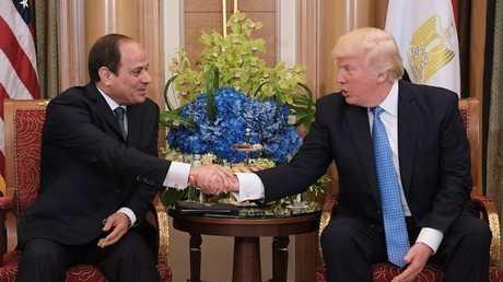 الرئيس الأمريكي دونالد ترامب ونظيره المصري عبد الفتاح السيسي