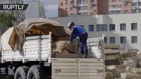 العثور على قنبلة ضخمة في موسكو
