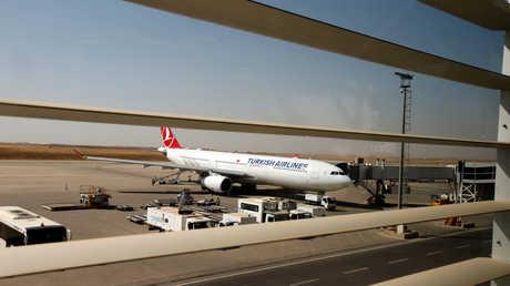 """طائرة ركاب تابعة لشركة """"الخطوط الجوية التركية"""" في مطار أربيل"""