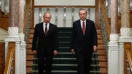 فلاديمير بوتين ورجب طيب أردوغان - صورة أرشيفية