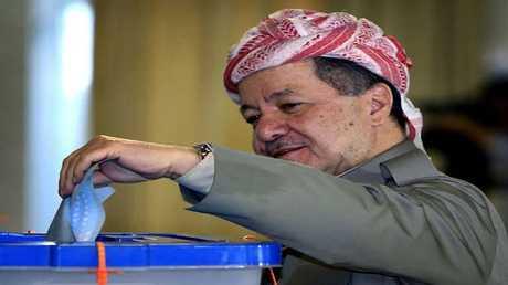 مسعود بارزاني يدلي بصوته في الاستفتاء