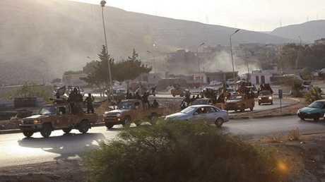 """مسلحو """"داعش"""" في ليبيا (صورة أرشيفية)"""