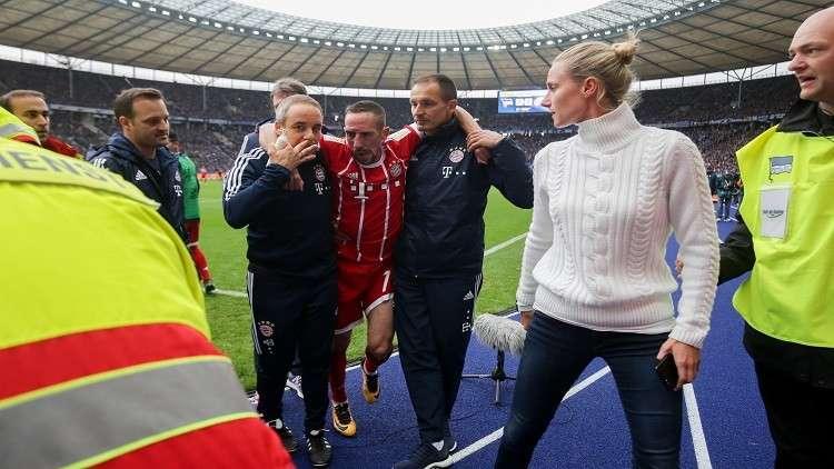 شاهد لحظة إصابة ريبيري المروعة في الدوري الألماني