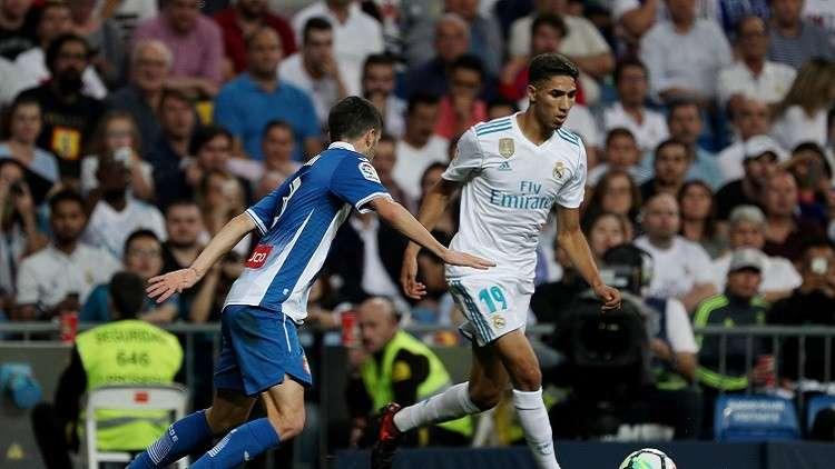 حكيمي أول عربي يلعب في ريال مدريد