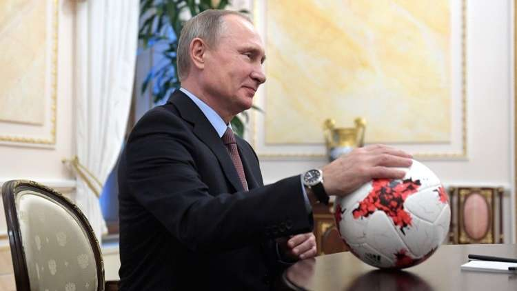 الرئيس الروسي يبحث الاستعدادات لكأس العالم 2018