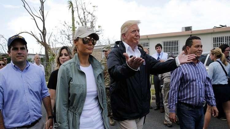 ترامب في بورتوريكو يقلل من خطورة إعصار