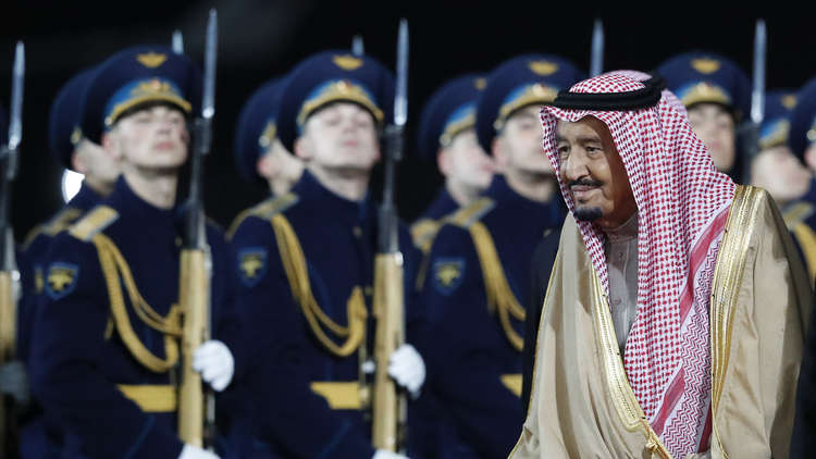 الخارجية الروسية تحتفل بزيارة الملك سلمان على طريقتها