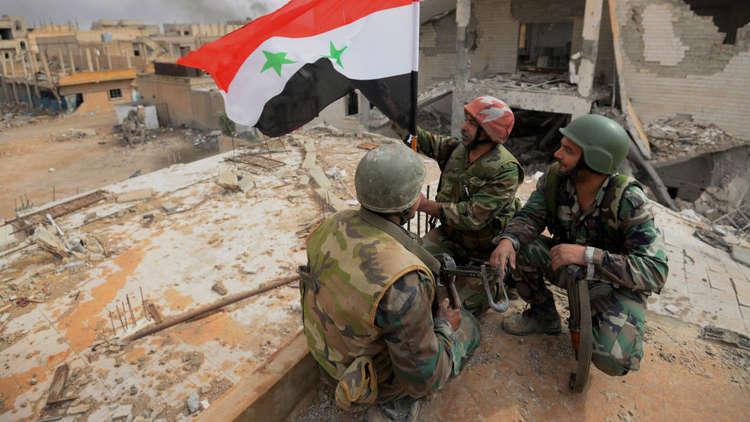 الجيش السوري يعلن القضاء على آخر تجمعات