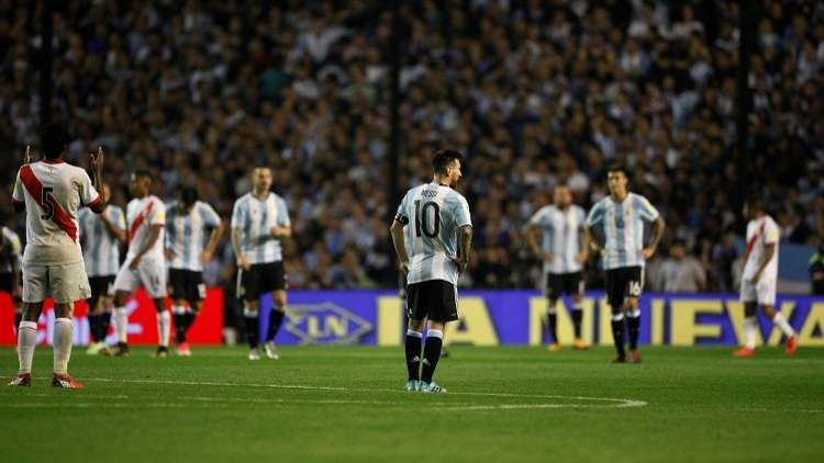 صورة معبرة جدا لوضع الأرجنتين وغيرها في تصفيات مونديال 2018