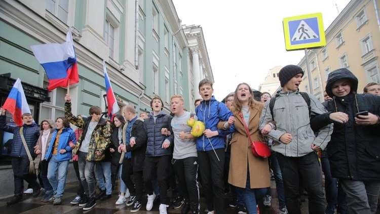 إطلاق سراح كل المتظاهرين المحتجزين في مختلف المدن الروسية