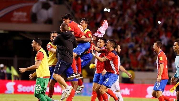 كوستاريكا تلحق بركب المتأهلين إلى مونديال روسيا