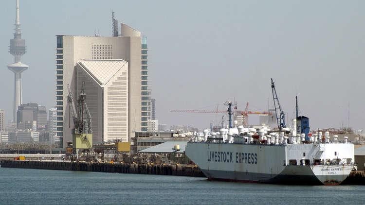 غرق باخرة إيرانية في مياه الكويت قبل وصولها إلى قطر (فيديو)