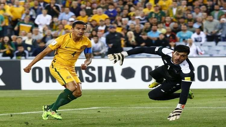 Image result for سوريا بعشرة لاعبين تخسر أمام أستراليا وتودّع حلم المونديال