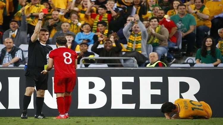 """لماذا تم استبدال الحكم """"أرماتوف"""" خلال مباراة سوريا وأستراليا؟"""