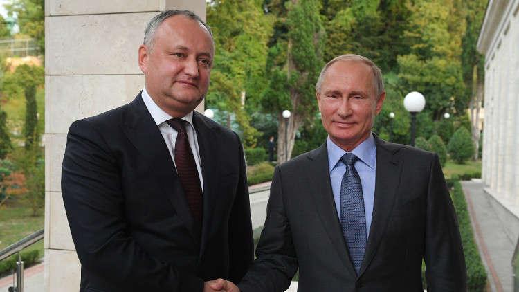 بوتين يشيد بجهود رئيس مولدوفا من أجل تحسين علاقات البلدين