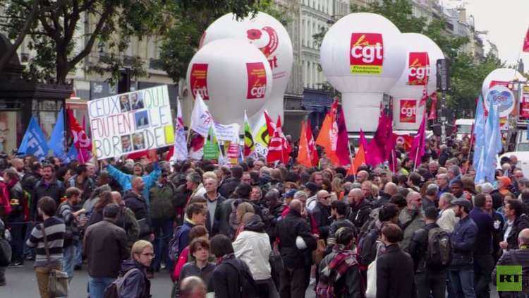 فرنسا.. مظاهرات عمالية مناهضة لماكرون