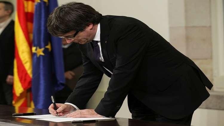حكومة كتالونيا تؤكد أن إعلان الاستقلال