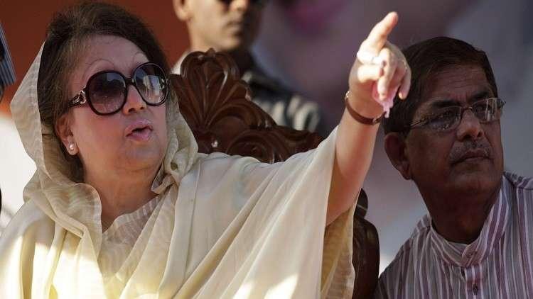 مذكرتا توقيف بحق زعيمة المعارضة في بنغلادش