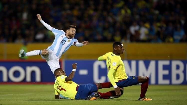 إيقاف خمسة لاعبين من منتخب الإكوادور