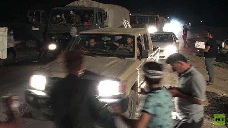 القوات العراقية تتحرك باتجاه كركوك للسيطرة على  بعض المواقع (فيديو)