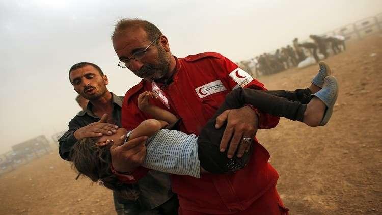 وضع اللاجئين في إدلب يقلق الهلال الأحمر التركي