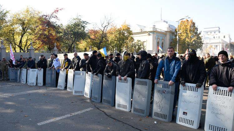 موسكو تدعو أوكرانيا إلى عدم استخدام الاحتجاجات في كييف للتصعيد في دونباس