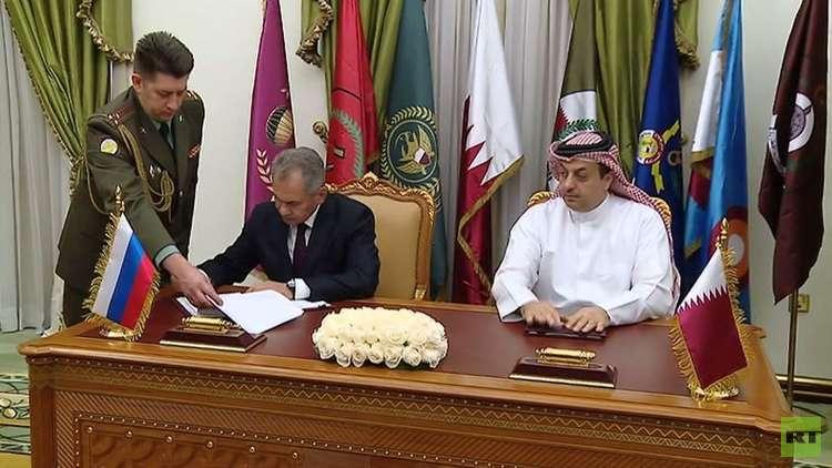 وزير الدفاع الروسي يوقع في الدوحة مع نظيره القطري اتفاقية حكومية حول التعاون العسكري-التقني