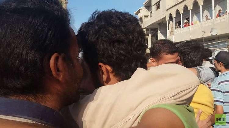RT ترصد تحرير 26 شابا اختطفهم داعش من القريتين بحمص