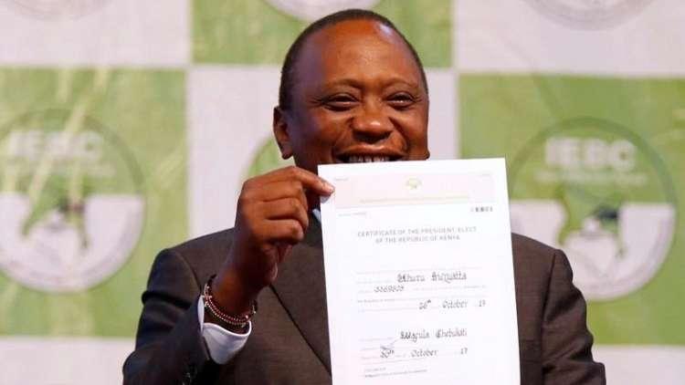 الرئيس كينياتا يفوز في إعادة الانتخابات الرئاسية