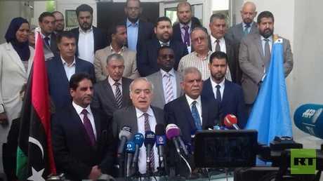 مؤتمر صحفي لغسان سلامة بعد اختتام لجنة جولة الحوار الليبي بتونس
