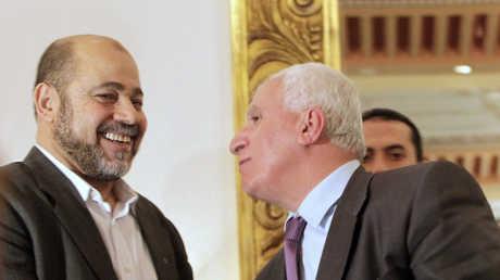 عزام الأحمد وموسى أبو مرزوق - صورة أرشيفية