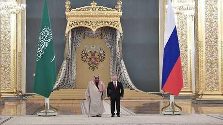 الرئيس الروسي فلاديمير بوتين والعاهل السعودي الملك سلمان بن عبدالعزيز في موسكو