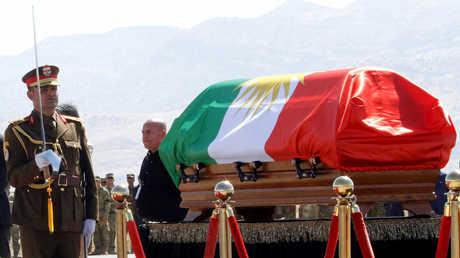 مراسيم تشييع جثمان الرئيس العراقي السابق، جلال طالباني.